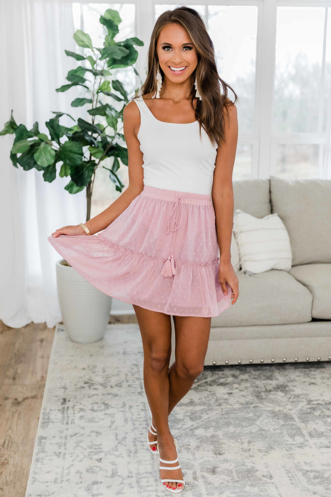 When We Fell In Love Dusty Mauve Skirt CLEARANCE