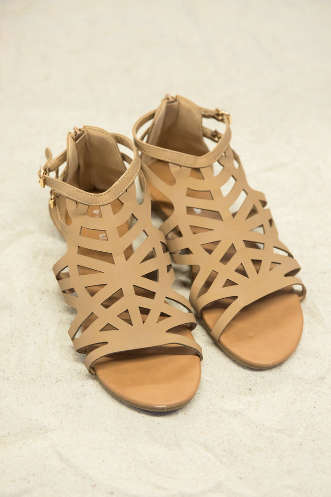 Barbara Tan Sandals CLEARANCE – Pink Lily