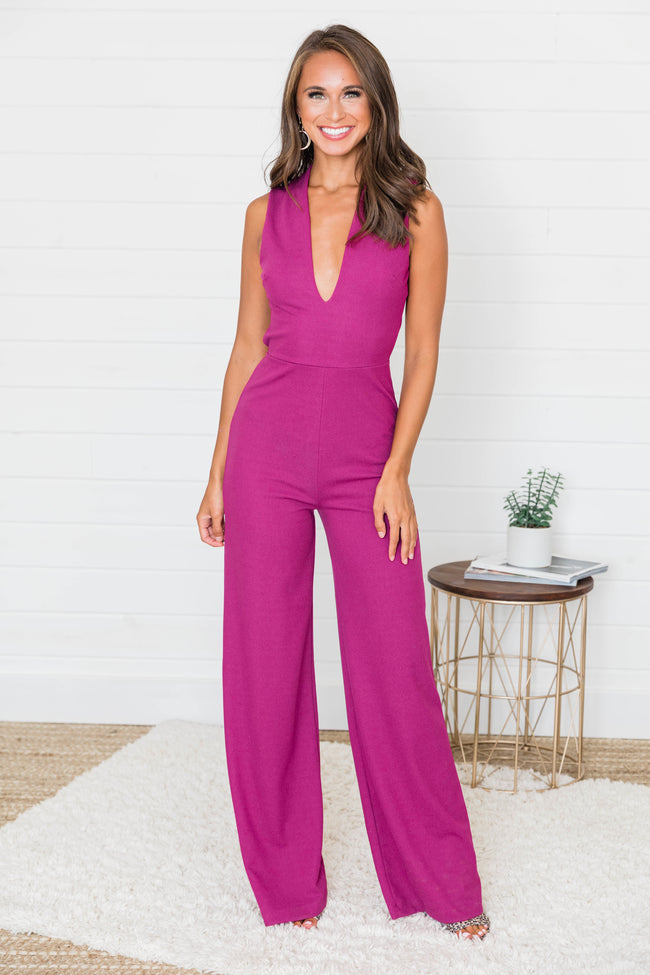 Crazy For Your Love Magenta Jumpsuit