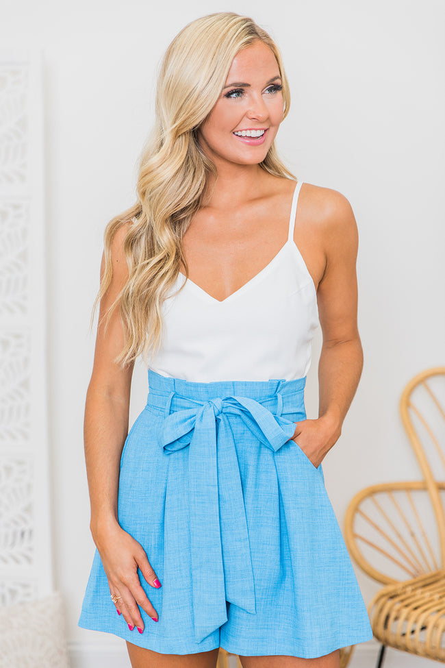 You Belong In My Heart Blue Romper FINAL SALE