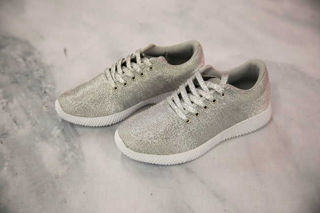 The Diana Metallic Silver Sneakers FINAL SALE