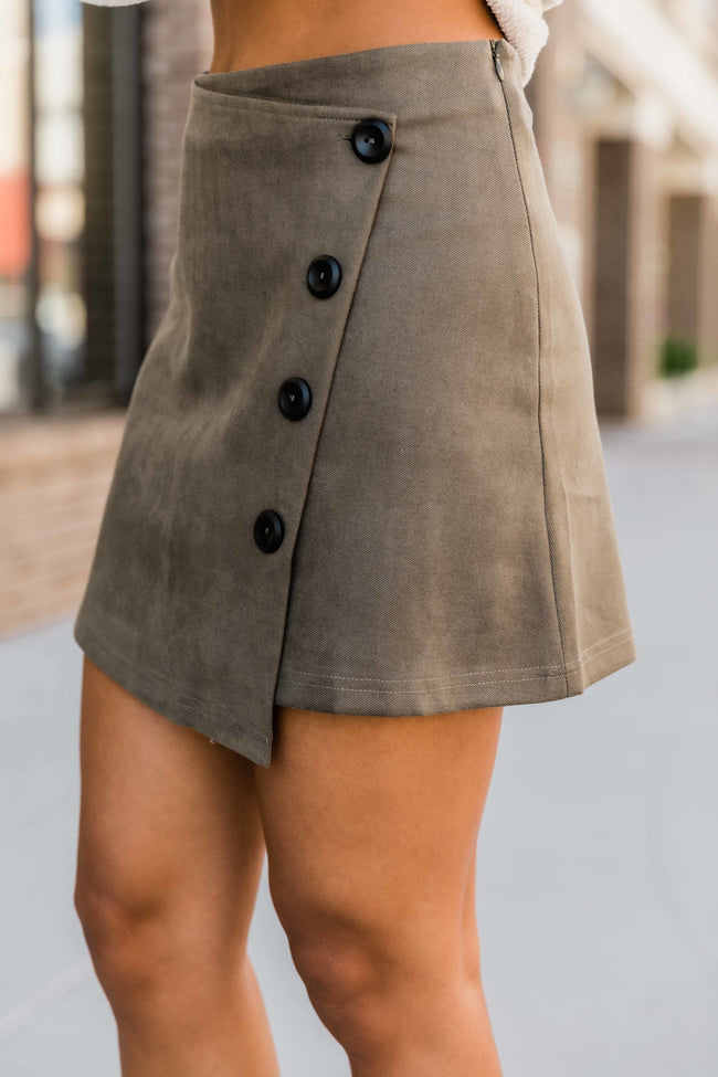 Don't Change Your Heart Olive Skirt