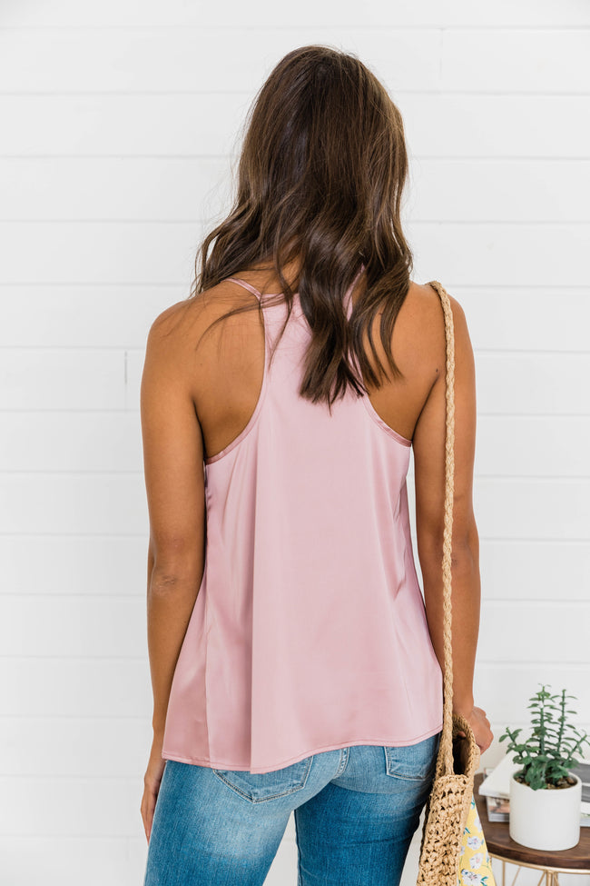 Precious To My Heart Mauve Lace Tank