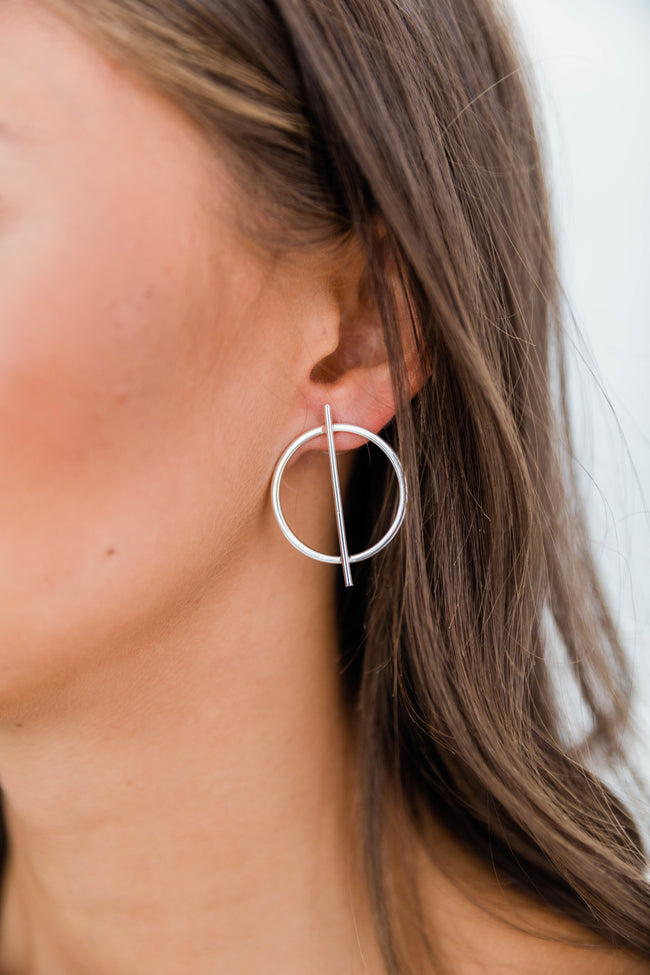 Nothing To Lose Silver Earrings