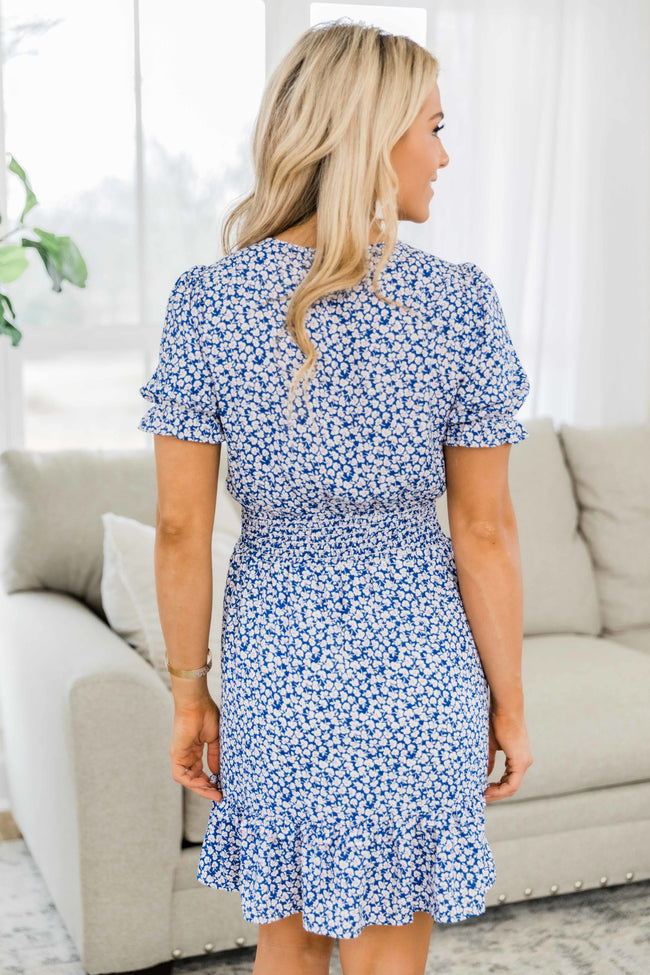Easy Morning Floral Dress Navy