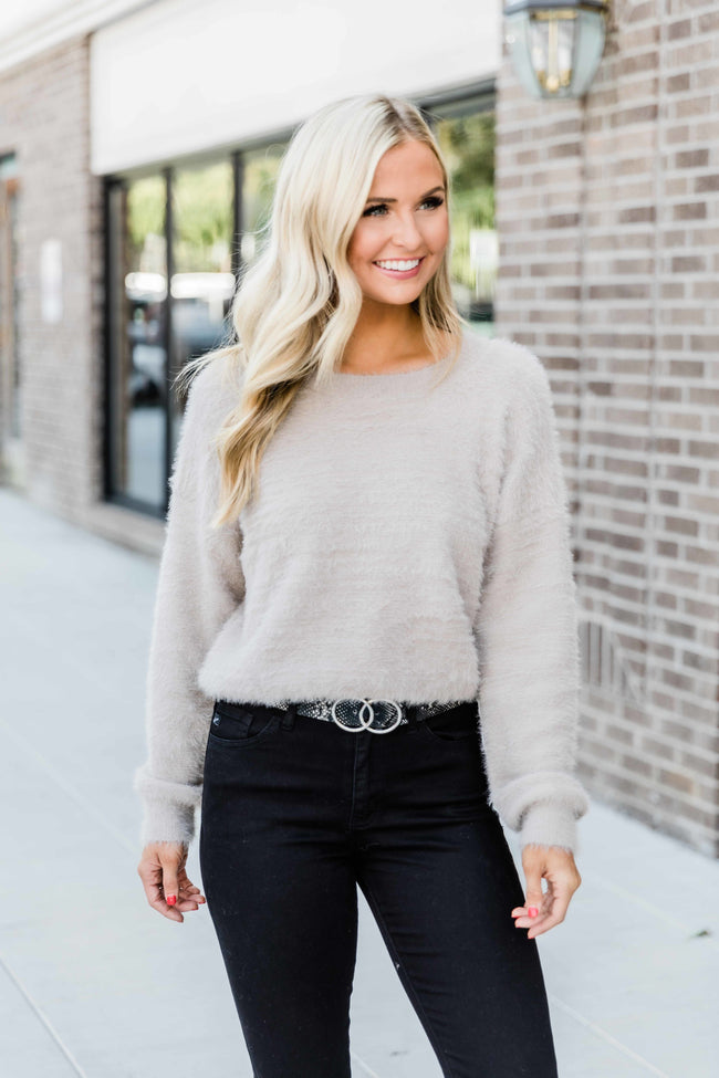 Know Your Heart Best Taupe Sweater FINAL SALE