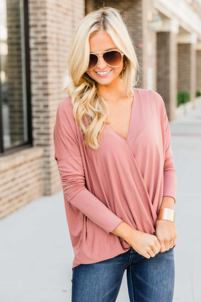 Keep On Searching For Love Dark Mauve Blouse