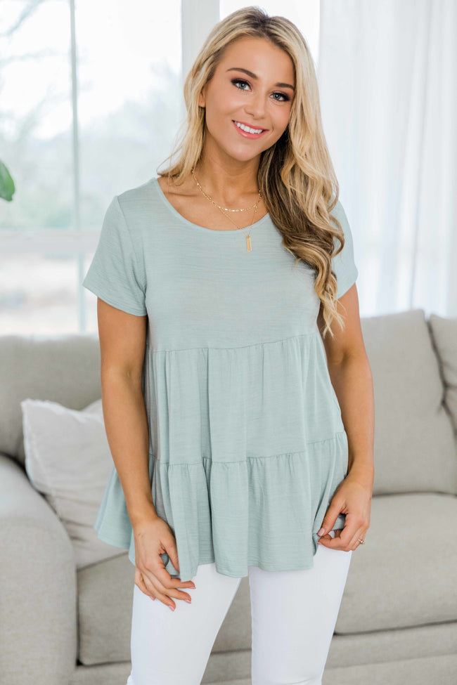 Love Never Ends Sage Blouse