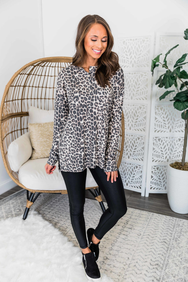 Get Away From The Crowd Animal Print Blouse