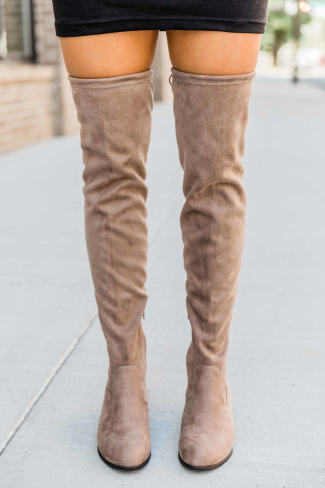 The Elise Mocha Over The Knee Boots  FINAL SALE