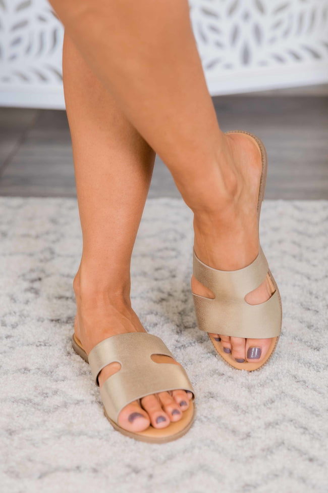 The Lulu Gold Sandals