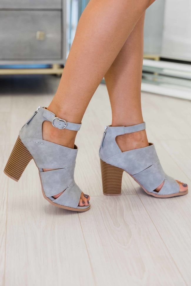 The Kennedy Grey Heels CLEARANCE