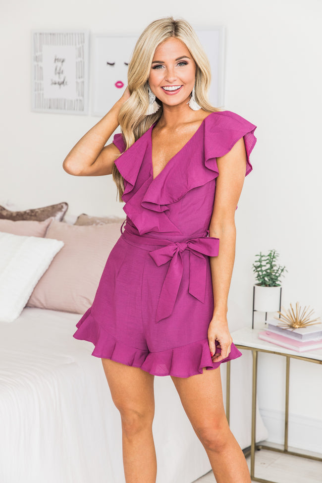 Playing With Fire Berry Romper