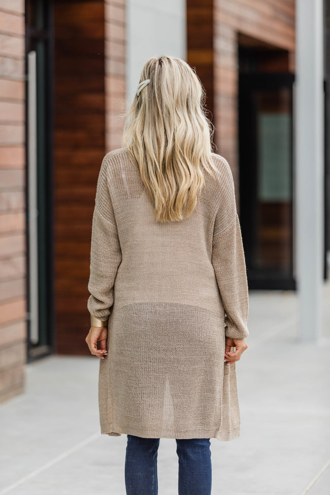 Your Love For Me Taupe Duster Cardigan  FINAL SALE