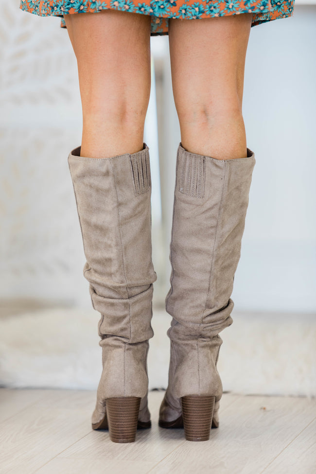 The Angela Taupe Boots