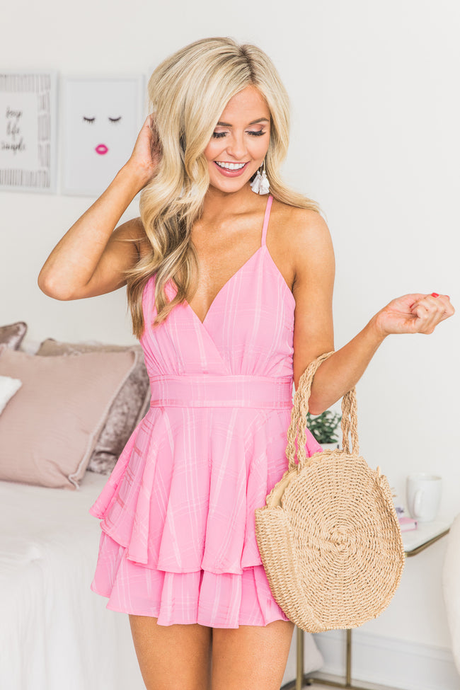 Delightfully In Love Hot Pink Romper CLEARANCE