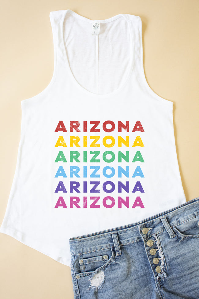 Rainbow State Name Graphic Tank