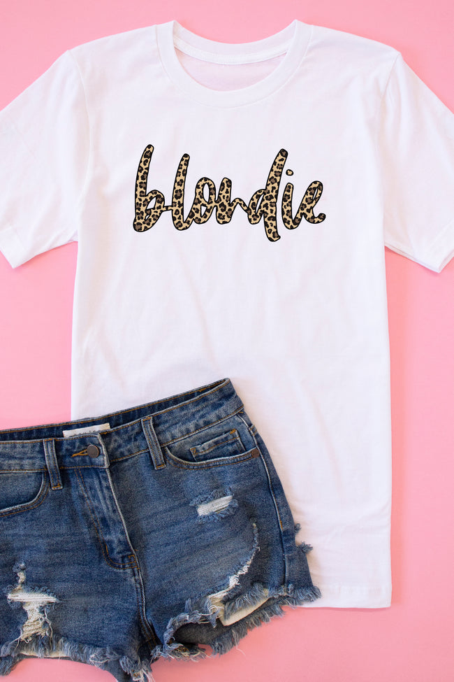 Blondie Animal Print Graphic Tee White