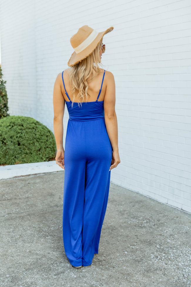 Casually Obsessed Jumpsuit Royal Blue