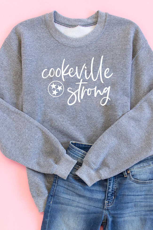 Cookeville Strong Heather Grey Graphic Sweatshirt