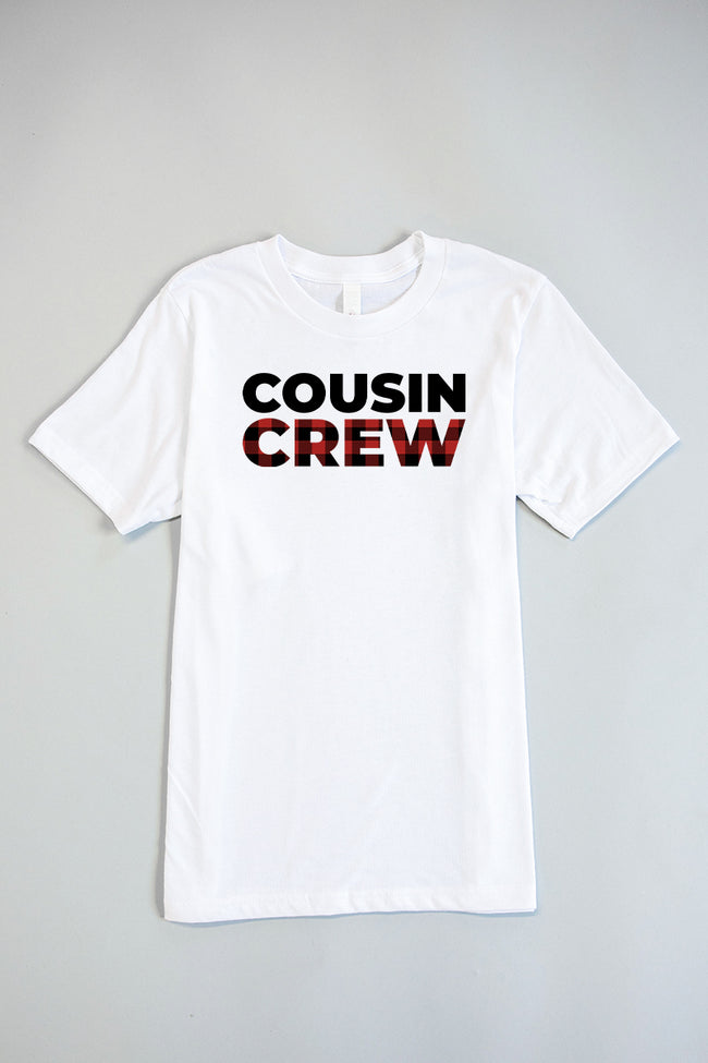 Cousin Crew Graphic White Youth Tee