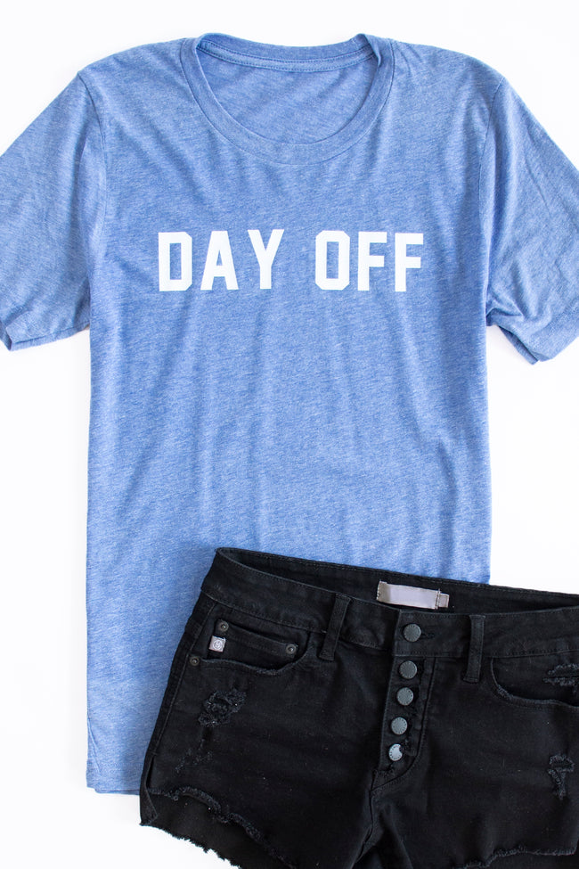Day Off Graphic Tee Light Blue