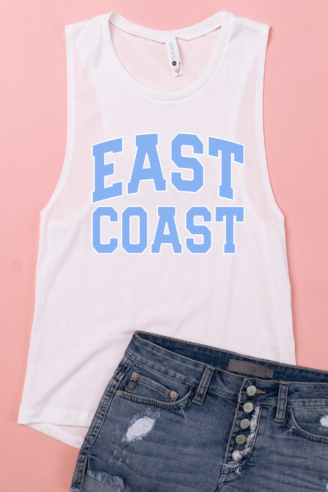East Coast White Graphic Tank