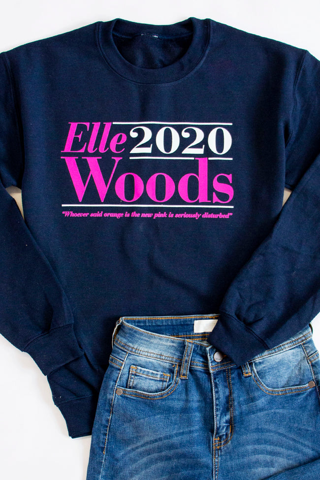 Elle Woods 2020 Graphic Navy Sweatshirt