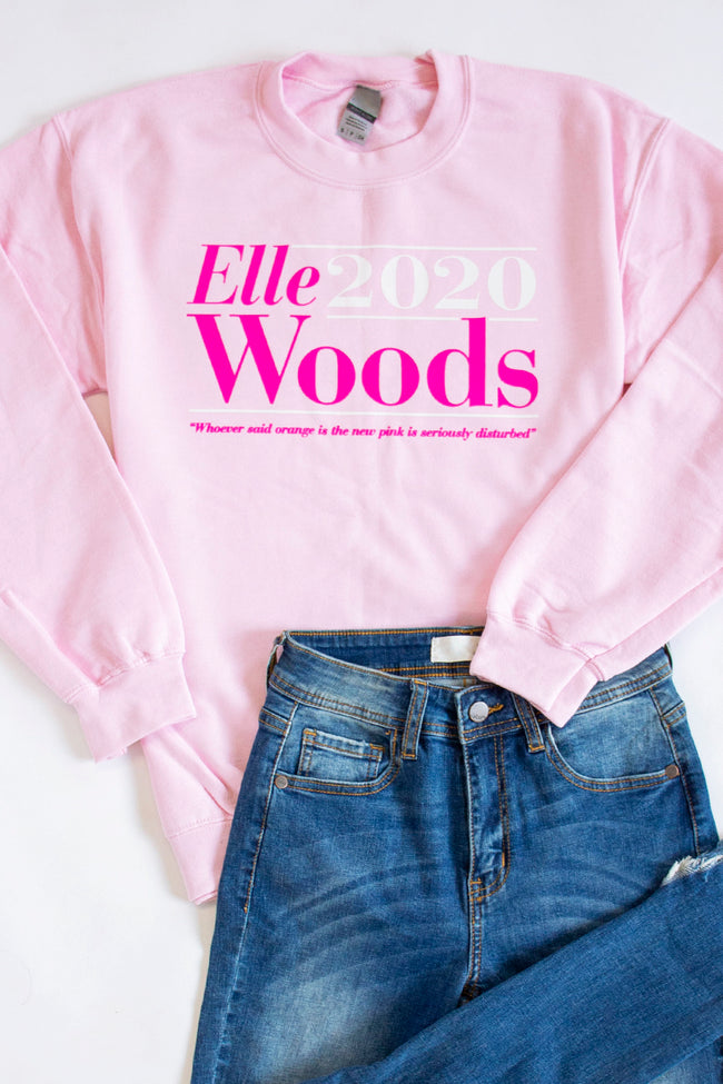 Elle Woods 2020 Graphic Light Pink Sweatshirt