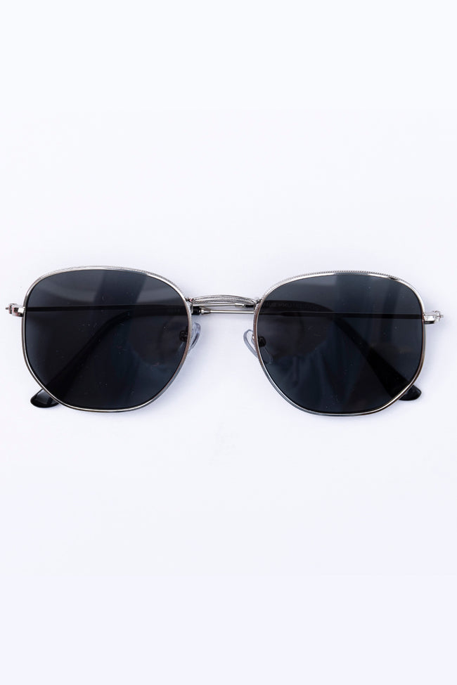 Happiness On A Highway Black/Silver Sunglasses