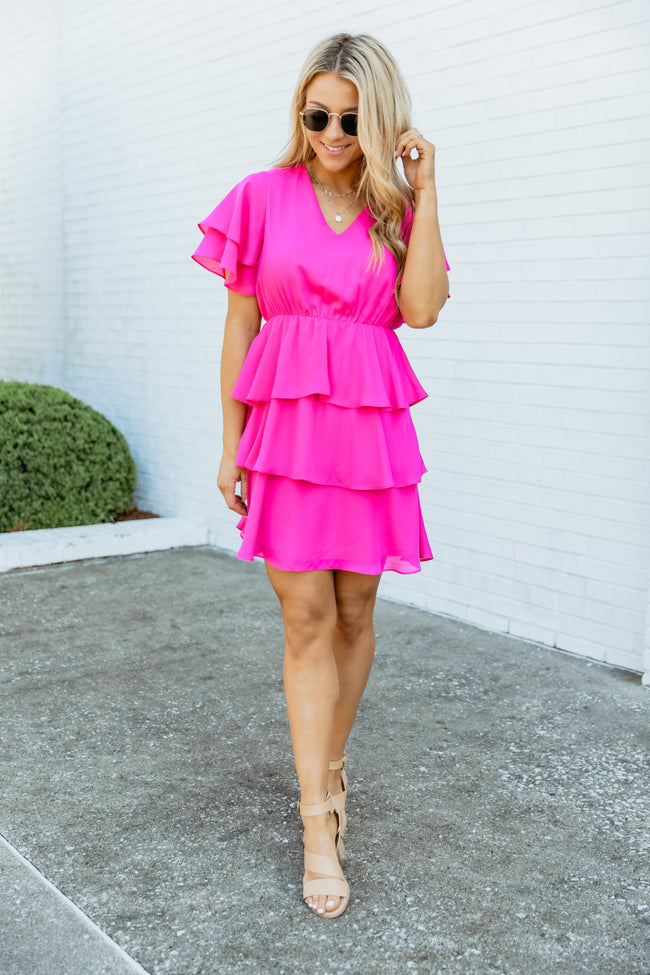 In Love With Friday Fuchsia Dress CLEARANCE