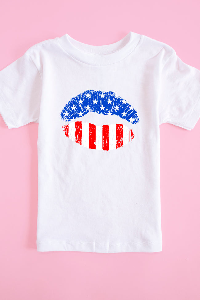 American Lips Graphic Youth Tee White