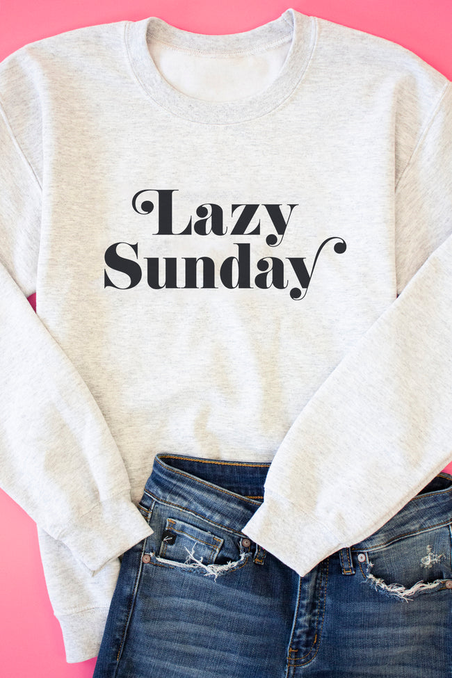 Lazy Sunday Ash Graphic Sweatshirt