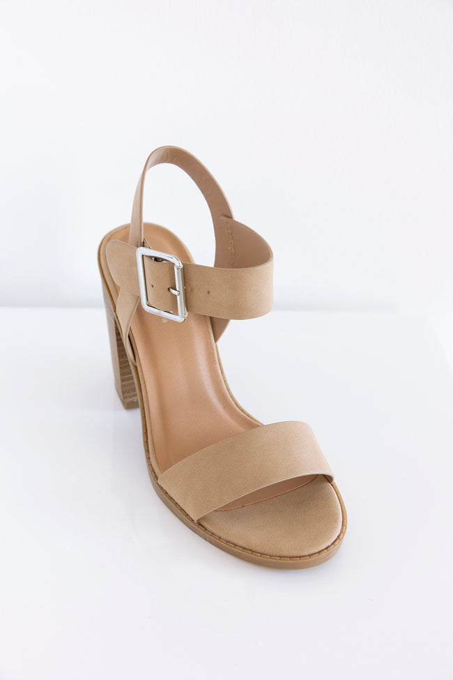 Lizzie Block Heel Natural