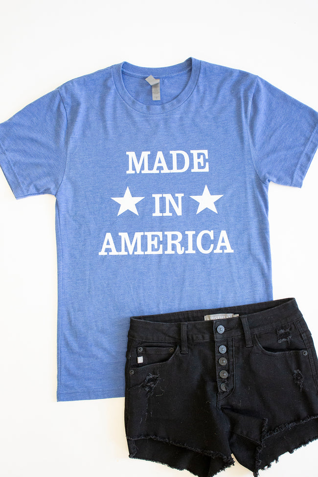 Made In America Blue Graphic Tee