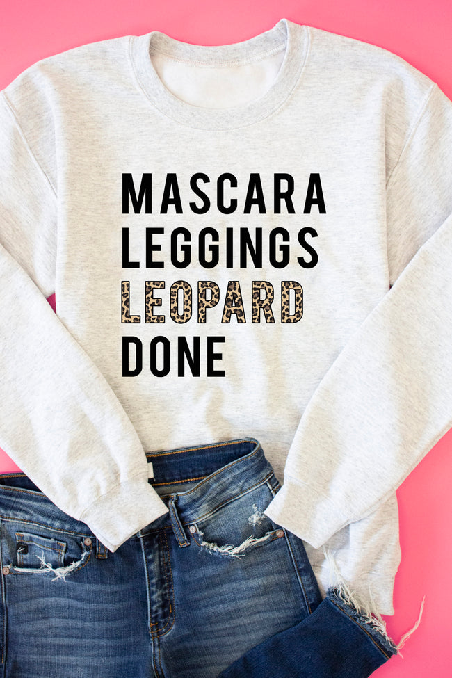 Mascara Leggings Leopard Done Ash Graphic Sweatshirt