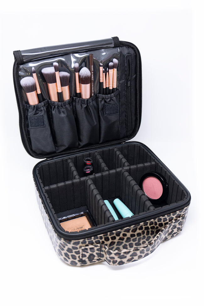 No Time To Spare Animal Print Makeup Bag