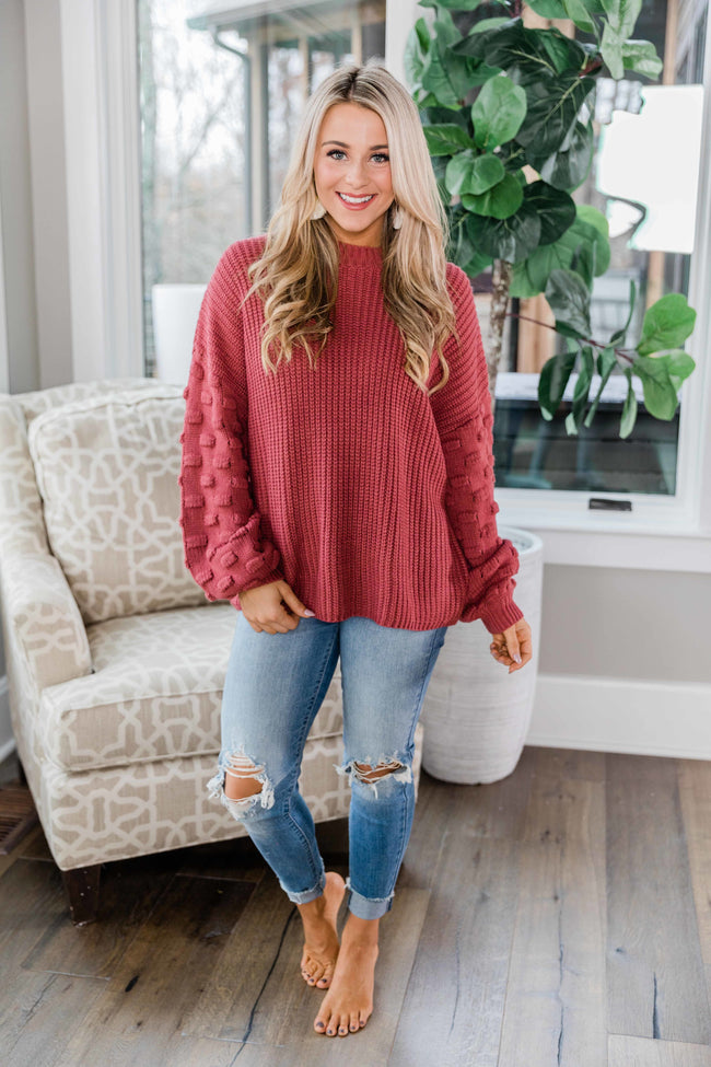 Perfect Time For Love Rose Sweater FINAL SALE