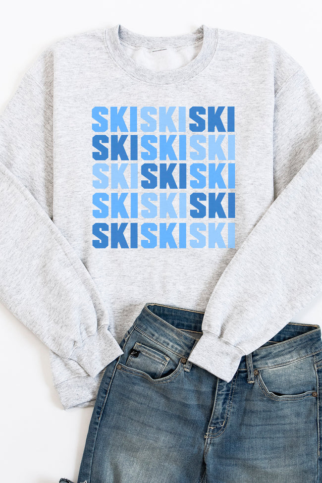Ski Multi Ash Graphic Sweatshirt