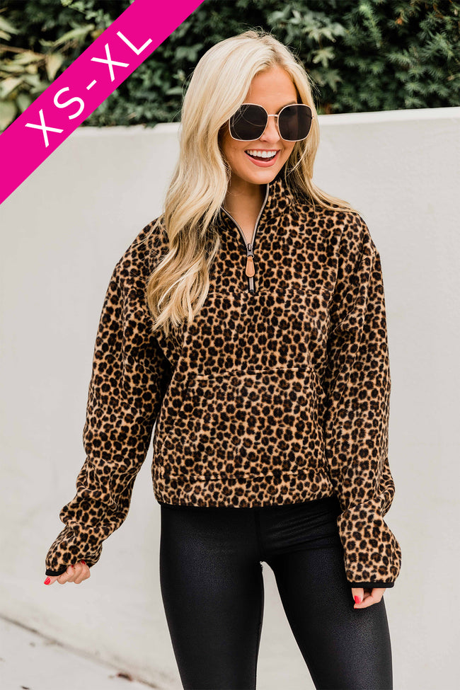 Something New To Love Animal Print Pullover