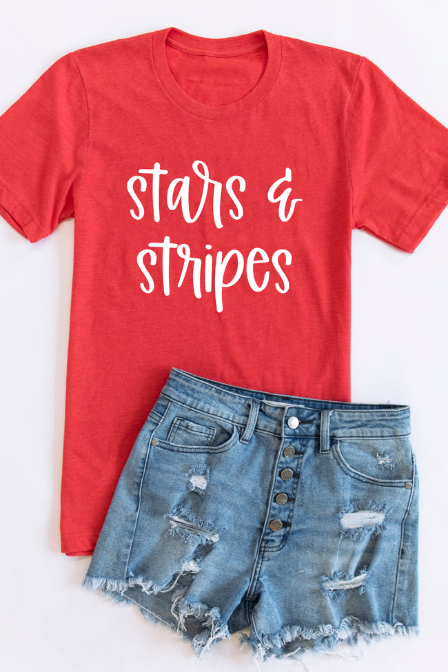 Stars And Stripes Graphic Tee Vintage Red
