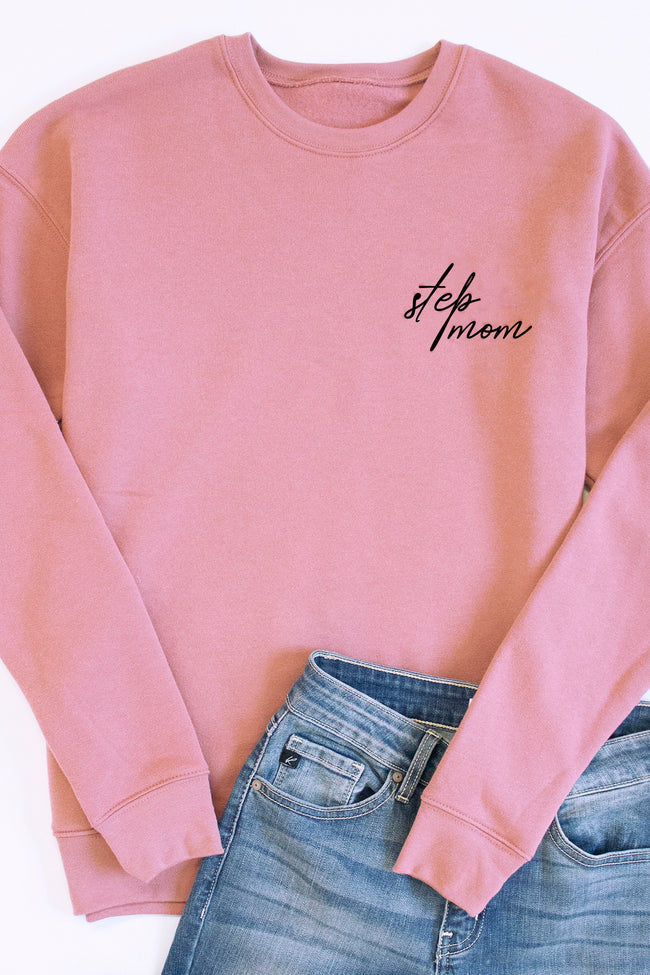 Embroidered Script Mauve Sweatshirt