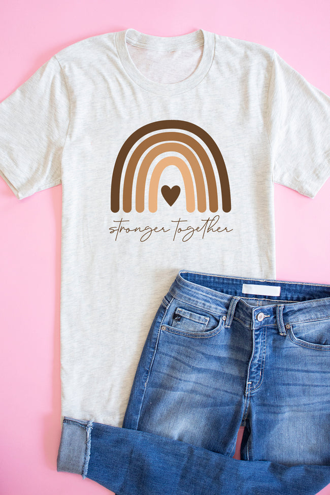 Stronger Together Graphic Tee Heather Prim Natural