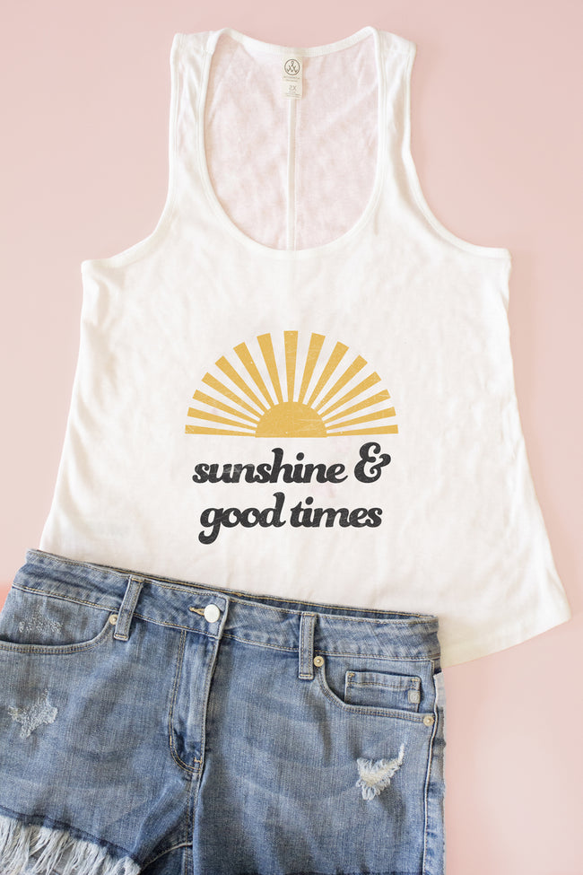 Sunshine And Good Times Graphic Tank