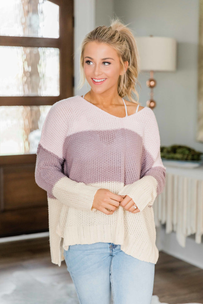 Sweetest Delight Pink Colorblock Sweater FINAL SALE
