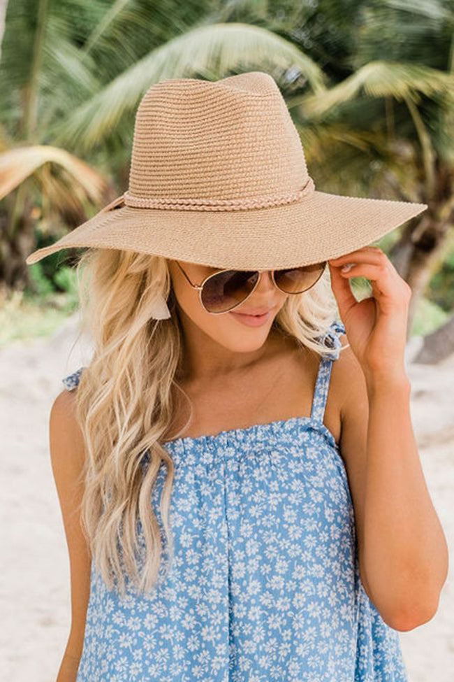 Take A Weekend Away  Straw Fedora Tan