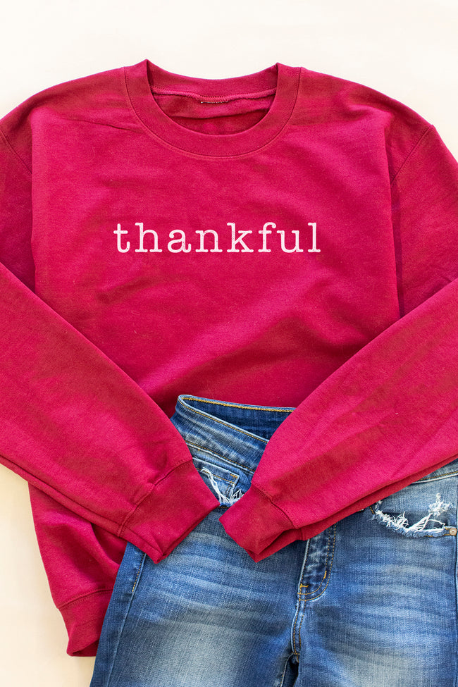 Thankful Garnet Graphic Sweatshirt