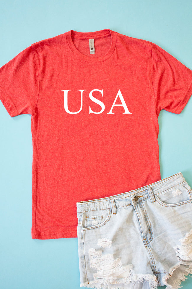 Classic USA Red Graphic Tee