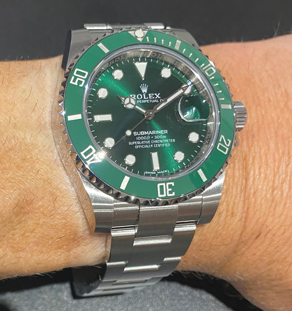 Unworn Green Submariner Date 116610LV Box & papers 2019