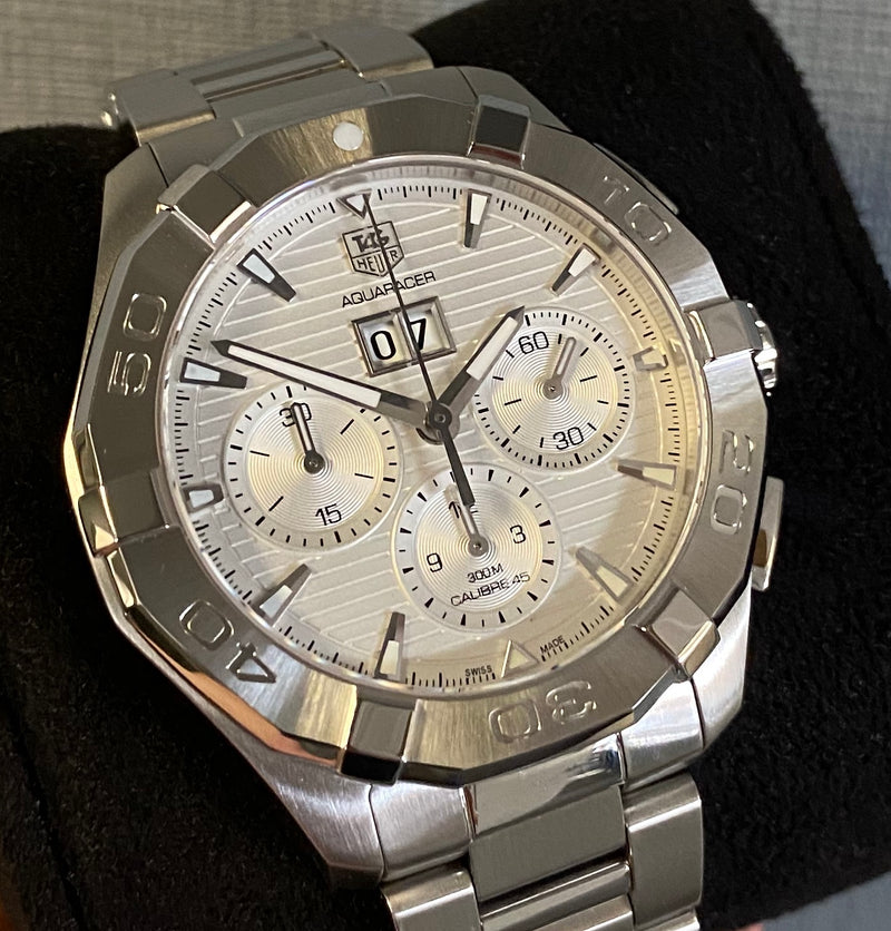 Aquaracer Chronograph Calibre 45 CAY211Y.BA0926 Box & papers 2018